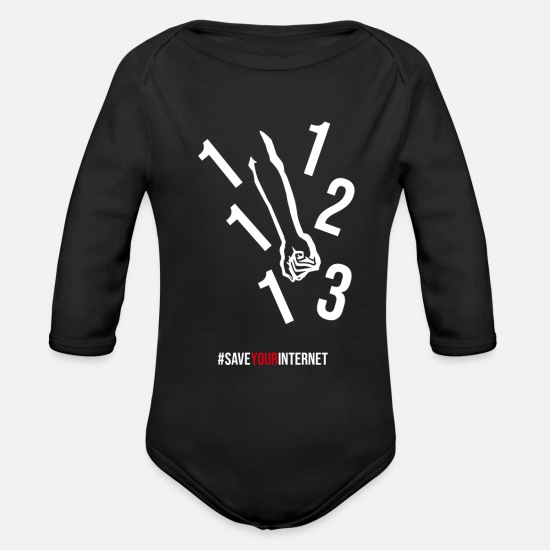 Demo Baby Clothing - Crush Article 13 - Organic Long-Sleeved Baby Bodysuit black