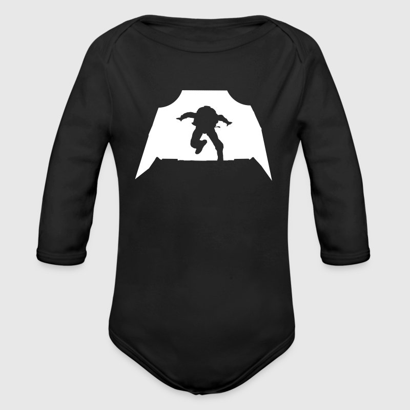 Skydiving - Parachuting - Organic Long Sleeve Baby Bodysuit