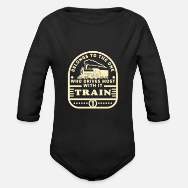 Train Driver Train driver - Organic Long-Sleeved Baby Bodysuit