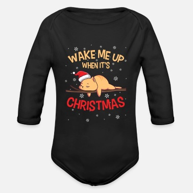 Best Nana Eve Christmas Lazy Cat Santa Kitten Lover Animal Owner - Organic Long-Sleeved Baby Bodysuit