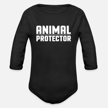 Animal Protection Animal Protection - Animal Protection Animal Lover - Organic Long-Sleeved Baby Bodysuit