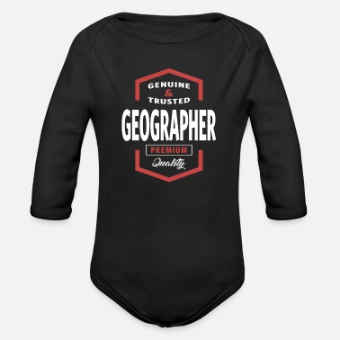 Geographic Geographer - Organic Long-Sleeved Baby Bodysuit