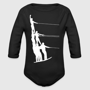 Water Sports Water Ski Water Sports - Organic Long Sleeve Baby Bodysuit