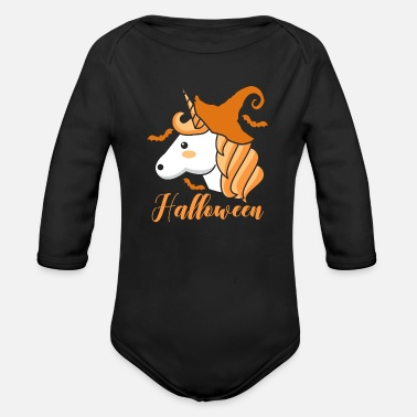 Bone Halloween Unicorn - Organic Long Sleeve Baby Bodysuit