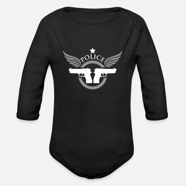 Jailhouse Police, Policeman, Cop - Organic Long-Sleeved Baby Bodysuit