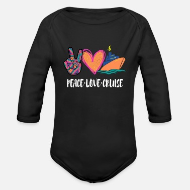 Peace Love Cruise Peace Love Cruise - Organic Long-Sleeved Baby Bodysuit