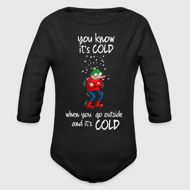 Cold IT'S COLD - Organic Long Sleeve Baby Bodysuit