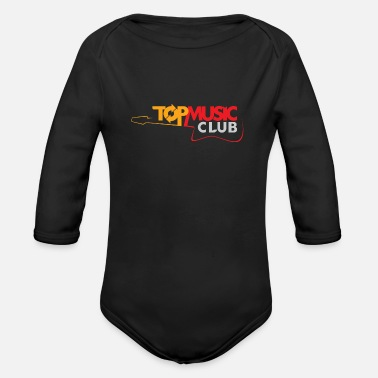 Music Club Top Music Club Logo - Organic Long-Sleeved Baby Bodysuit