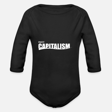 Capitals capitalism - Organic Long-Sleeved Baby Bodysuit