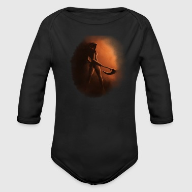 Gothic Death  Grim Reaper Gothic - Organic Long Sleeve Baby Bodysuit