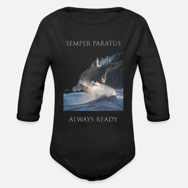 State Motto Proud to be an American - Coast Guard Motto - Organic Long Sleeve Baby Bodysuit