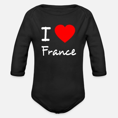 Je Suis Paris I LOVE FRANCE - Organic Long Sleeve Baby Bodysuit