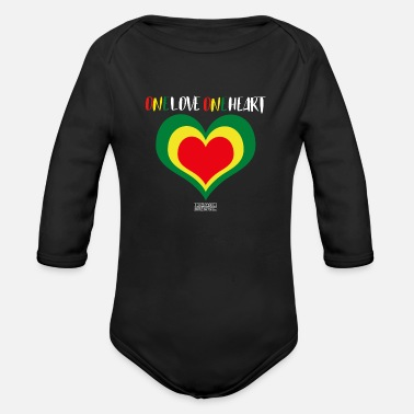 ONE LOVE ONE HEART - Organic Long-Sleeved Baby Bodysuit