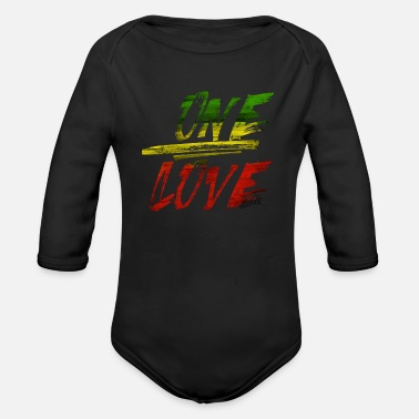 One Love ONE LOVE - Organic Long-Sleeved Baby Bodysuit