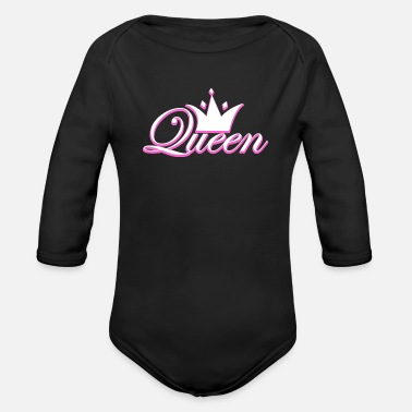 Prince Crown Crowns King Queen JGA Wedding Bride Groom - Organic Long-Sleeved Baby Bodysuit
