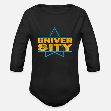University university - Organic Long-Sleeved Baby Bodysuit