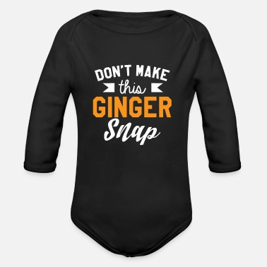 Provoke Do not provoke Ginger - Organic Long-Sleeved Baby Bodysuit