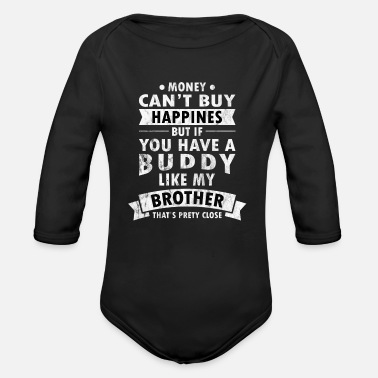 Bliss brotherly bliss - Organic Long Sleeve Baby Bodysuit