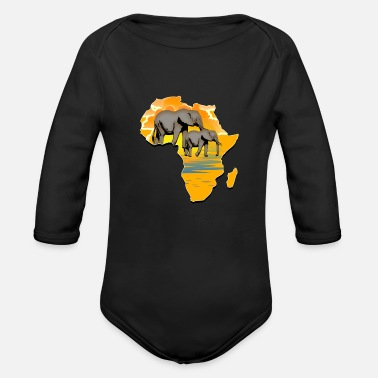 Continent Continent Africa - Organic Long-Sleeved Baby Bodysuit