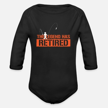Legend Boats Retired legend - Organic Long-Sleeved Baby Bodysuit