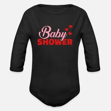 Baby Shower Baby shower - Organic Long-Sleeved Baby Bodysuit
