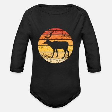 Deerskin King of the forest - Organic Long-Sleeved Baby Bodysuit