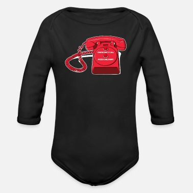 Italy Delicious Order Pizza Food Saying - Organic Long-Sleeved Baby Bodysuit