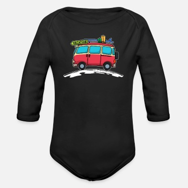 Caribbean Vacation Travel Surfing Beach Holiday - Organic Long-Sleeved Baby Bodysuit