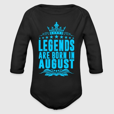 Legends Are Born In August - Organic Long Sleeve Baby Bodysuit