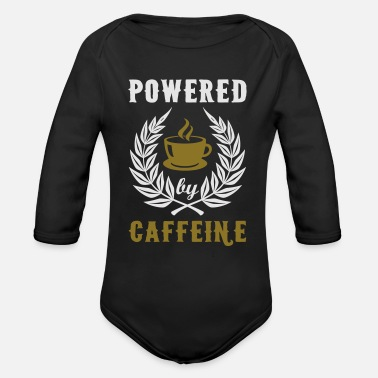 Powered By Caffeine - Organic Long-Sleeved Baby Bodysuit