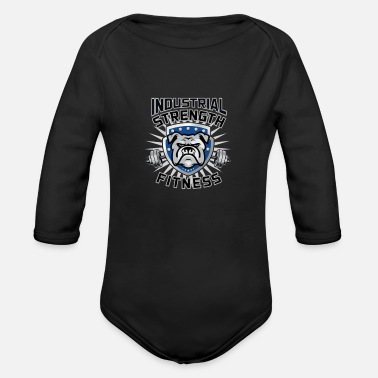 Pitch Industrial strength fitness - Organic Long-Sleeved Baby Bodysuit