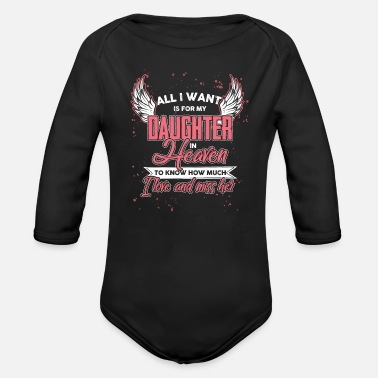 Daughters Daughter Best Daughter Family Daughters Gift ` - Organic Long-Sleeved Baby Bodysuit
