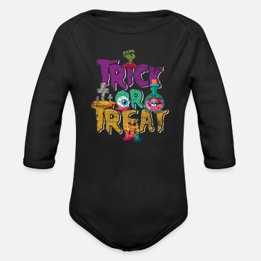 Trick Or Treat Trick Or Treat - Organic Long-Sleeved Baby Bodysuit