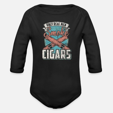 Cigar Cigar - Organic Long-Sleeved Baby Bodysuit