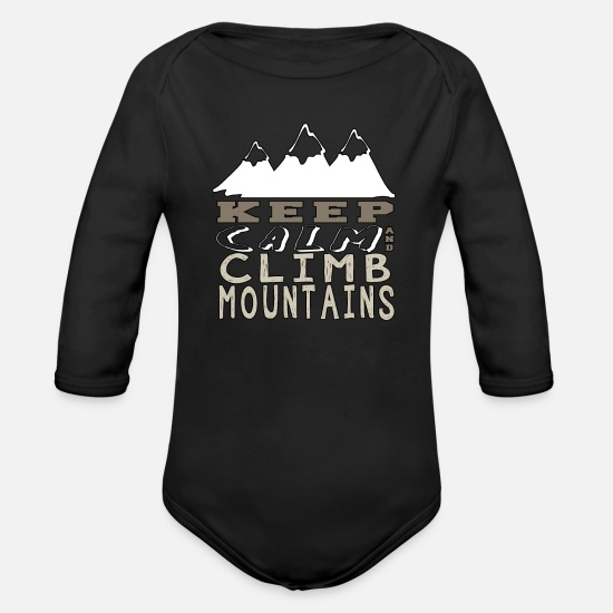 Idea Baby Clothing - Rockclimbing Mountaineer Climber Climbing Gift - Organic Long-Sleeved Baby Bodysuit black