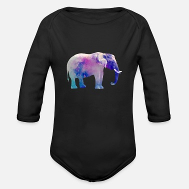 Study Live Elephant Animal Mammal Living Study Science Gift - Organic Long-Sleeved Baby Bodysuit