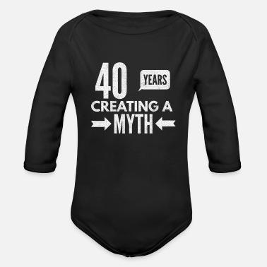 Man 40 Years Creating A Myth - Organic Long-Sleeved Baby Bodysuit