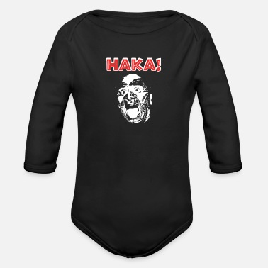 Punga New Zealand Rugby with Haka print for Rugby Fan - Organic Long-Sleeved Baby Bodysuit