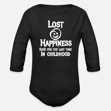 Childhood Depression Lost Happiness Seen For The Last Time In Childhood - Organic Long-Sleeved Baby Bodysuit