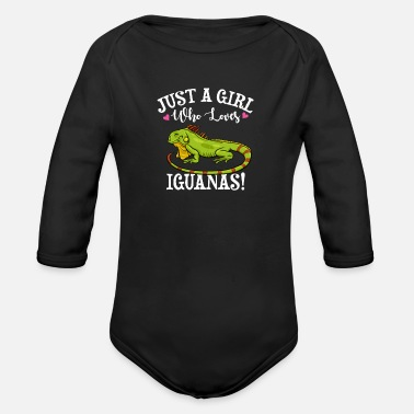 Iguana Dad Iguana - Organic Long-Sleeved Baby Bodysuit