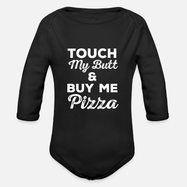 Woman Pizza Pizzas Margarita Calzone Italy - Organic Long-Sleeved Baby Bodysuit
