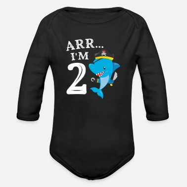 Arr I/'m 1 Pirate Birthday Party Gift for One Year Old Baby Long Sleeve Bodysuit