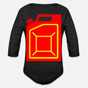 Gas benzin gas tankstelle petrol station oil productio - Organic Long-Sleeved Baby Bodysuit