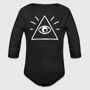 The All Seeing Eye Sees You - Organic Long Sleeve Baby Bodysuit