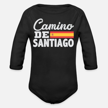 The Way Of St James Camino De Santiago Way of Saint James - Organic Long Sleeve Baby Bodysuit