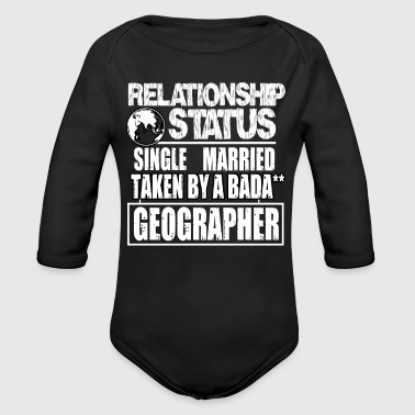 Taken By A Geographer T Shirt - Organic Long Sleeve Baby Bodysuit