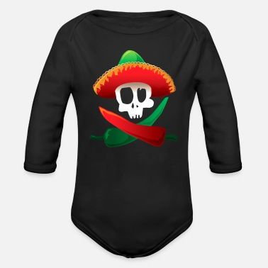 Mexican Food Mexican food spicy - Organic Long-Sleeved Baby Bodysuit