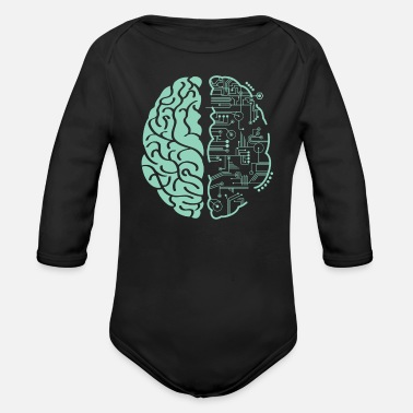 Techie Techie Mind - Organic Long-Sleeved Baby Bodysuit