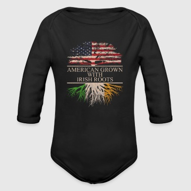 Irish Roots American grown with irish roots - Organic Long Sleeve Baby Bodysuit