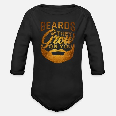 Facial Hair Beard facial hair mustache - Organic Long-Sleeved Baby Bodysuit